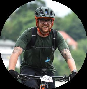 Oliver Grimm beim Mountainbike fahren