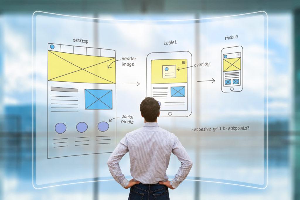 Responsives Webdesign auf Desktop, Tablet und Mobile. Homepage erstellen