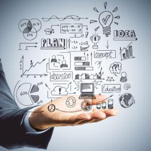 Eine Hand die globale Geschäftsmodelle hält, IT-Service Grimm, Webdesign, Webseite