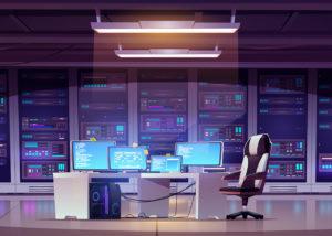 Ein IT-Dienstleistung von IT-Service Grimm Rechenzentrum mit Arbeitsplatz